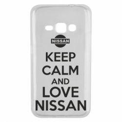 Чехол для Samsung J1 2016 Keep calm and love Nissan - FatLine