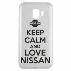 Чехол для Samsung J2 2018 Keep calm and love Nissan - FatLine