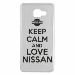 Чехол для Samsung A7 2016 Keep calm and love Nissan - FatLine