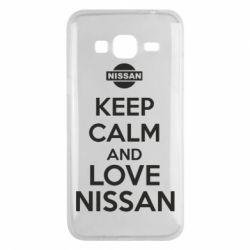 Чехол для Samsung J3 2016 Keep calm and love Nissan - FatLine