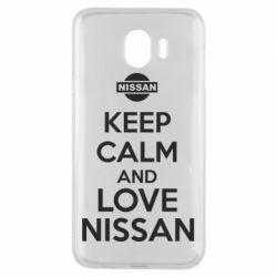 Чехол для Samsung J4 Keep calm and love Nissan - FatLine