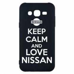 Чехол для Samsung J5 2015 Keep calm and love Nissan - FatLine