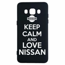 Чехол для Samsung J5 2016 Keep calm and love Nissan - FatLine