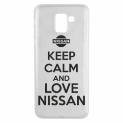 Чехол для Samsung J6 Keep calm and love Nissan - FatLine