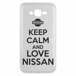 Чехол для Samsung J7 2015 Keep calm and love Nissan - FatLine