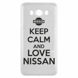 Чехол для Samsung J7 2016 Keep calm and love Nissan - FatLine