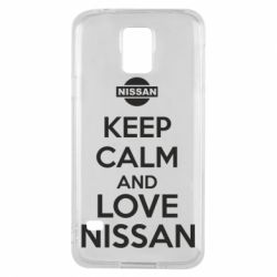 Чехол для Samsung S5 Keep calm and love Nissan - FatLine