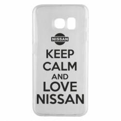 Чехол для Samsung S6 EDGE Keep calm and love Nissan - FatLine