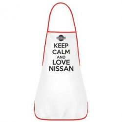 Фартук Keep calm and love Nissan