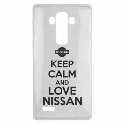 Чехол для LG G4 Keep calm and love Nissan - FatLine