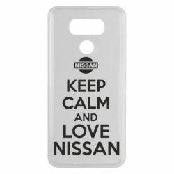 Чехол для LG G6 Keep calm and love Nissan - FatLine