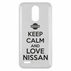 Чехол для LG K10 2017 Keep calm and love Nissan - FatLine