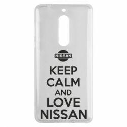 Чехол для Nokia 5 Keep calm and love Nissan - FatLine