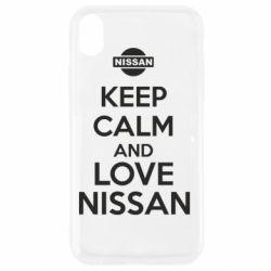 Чехол для iPhone XR Keep calm and love Nissan - FatLine