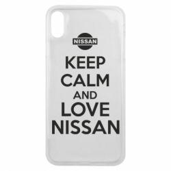 Чехол для iPhone Xs Max Keep calm and love Nissan - FatLine