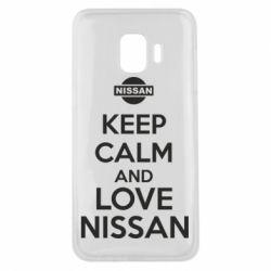 Чехол для Samsung J2 Core Keep calm and love Nissan - FatLine