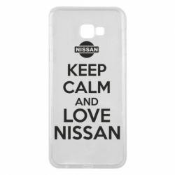Чехол для Samsung J4 Plus 2018 Keep calm and love Nissan - FatLine