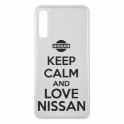 Чехол для Samsung A7 2018 Keep calm and love Nissan - FatLine