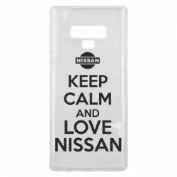 Чехол для Samsung Note 9 Keep calm and love Nissan - FatLine