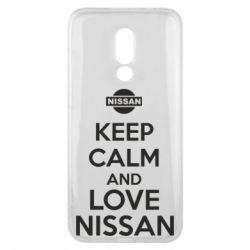 Чехол для Meizu 16x Keep calm and love Nissan - FatLine