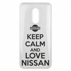 Чехол для Meizu 16 plus Keep calm and love Nissan - FatLine