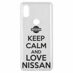 Чехол для Xiaomi Mi Mix 3 Keep calm and love Nissan - FatLine