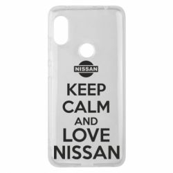 Чехол для Xiaomi Redmi Note 6 Pro Keep calm and love Nissan