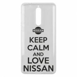 Чехол для Nokia 8 Keep calm and love Nissan - FatLine