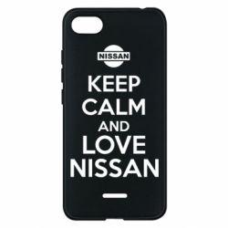 Чехол для Xiaomi Redmi 6A Keep calm and love Nissan - FatLine