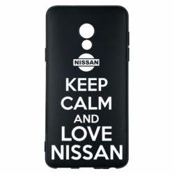 Чехол для Meizu 15 Lite Keep calm and love Nissan - FatLine