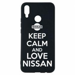Чехол для Huawei P Smart Plus Keep calm and love Nissan - FatLine