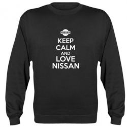 Реглан (свитшот) Keep calm and love Nissan - FatLine