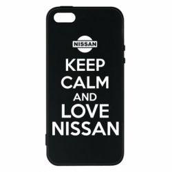Чехол для iPhone5/5S/SE Keep calm and love Nissan - FatLine