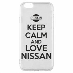 Чехол для iPhone 6/6S Keep calm and love Nissan - FatLine