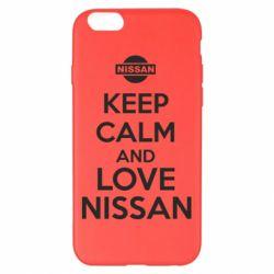 Чехол для iPhone 6 Plus/6S Plus Keep calm and love Nissan - FatLine