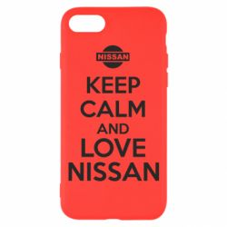 Чехол для iPhone 7 Keep calm and love Nissan - FatLine