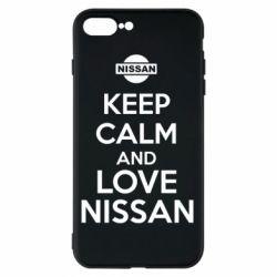 Чехол для iPhone 7 Plus Keep calm and love Nissan - FatLine