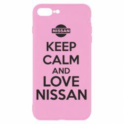 Чехол для iPhone 8 Plus Keep calm and love Nissan - FatLine