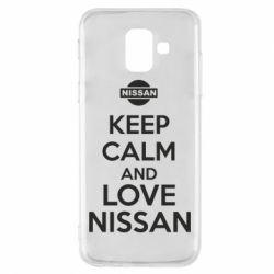 Чехол для Samsung A6 2018 Keep calm and love Nissan - FatLine