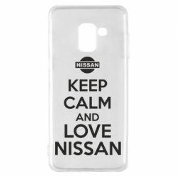 Чехол для Samsung A8 2018 Keep calm and love Nissan - FatLine