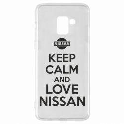 Чехол для Samsung A8+ 2018 Keep calm and love Nissan - FatLine