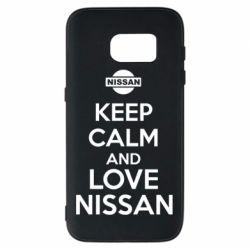 Чехол для Samsung S7 Keep calm and love Nissan - FatLine