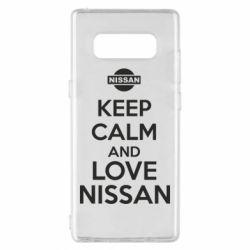 Чехол для Samsung Note 8 Keep calm and love Nissan - FatLine