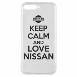 Чехол для Huawei Y6 2018 Keep calm and love Nissan - FatLine