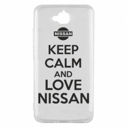 Чехол для Huawei Y6 Pro Keep calm and love Nissan - FatLine