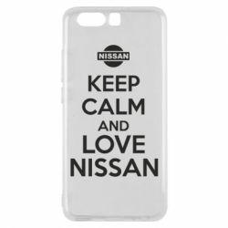 Чехол для Huawei P10 Keep calm and love Nissan - FatLine