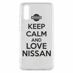 Чехол для Huawei P20 Keep calm and love Nissan - FatLine