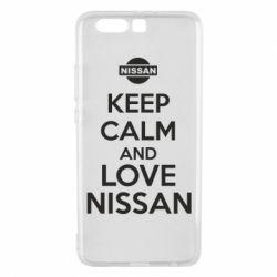 Чехол для Huawei P10 Plus Keep calm and love Nissan - FatLine
