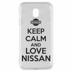 Чехол для Samsung J3 2017 Keep calm and love Nissan - FatLine