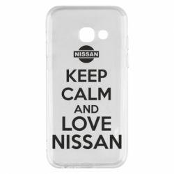 Чехол для Samsung A3 2017 Keep calm and love Nissan - FatLine